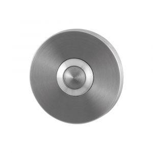 GPF bouwbeslag 9827.05 beldrukker rond 50x6 mm met RVS button RVS geborsteld - A16000290 - afbeelding 1