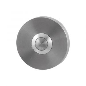 GPF bouwbeslag 9827.09 beldrukker rond 50x8 mm met RVS button RVS geborsteld - A16000293 - afbeelding 1