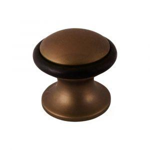 Mandelli 109 deurstopper rond 28x29 mm mat brons - A16002821 - afbeelding 1