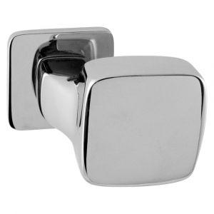 Mandelli 1621R Carre gatdeel deurkruk rechts op rozet chrome - A16002727 - afbeelding 1