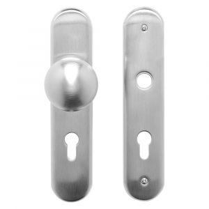 Mandelli VH72/284A veiligheids garnituur SKG*** met vaste knop 284A PC72 satin chrome - A16005731 - afbeelding 1