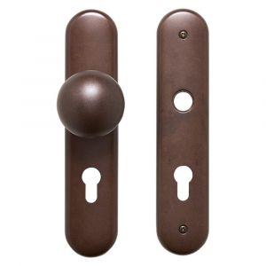 Mandelli VH72/284A veiligheids garnituur SKG*** met vaste knop 284A PC72 antiek brons - A16005722 - afbeelding 1