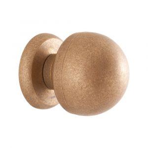 Mandelli 854 voordeur knop 70 mm draaibaar messing ongelakt getrommeld - A16003848 - afbeelding 1