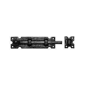 Kirkpatrick KP0812 deurschuif 228x54 mm smeedijzer zwart - A16000199 - afbeelding 1