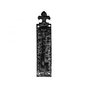 Kirkpatrick KP0832 deurklopper Op plaat 254x57 mm smeedijzer zwart - A16000227 - afbeelding 1