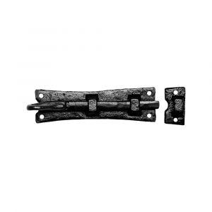 Kirkpatrick KP1156 deurschuif met krul 203x46 mm smeedijzer zwart - A16000210 - afbeelding 1