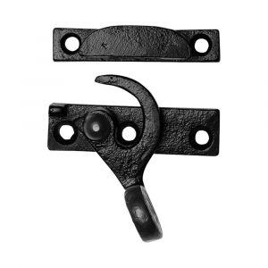 Kirkpatrick KP1460R schuifraamsluiting rechtsdraaiend smeedijzer zwart - A16006351 - afbeelding 1