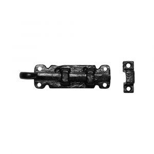 Kirkpatrick KP1546 deurschuif vlak 101x28 mm smeedijzer zwart - A16000213 - afbeelding 1