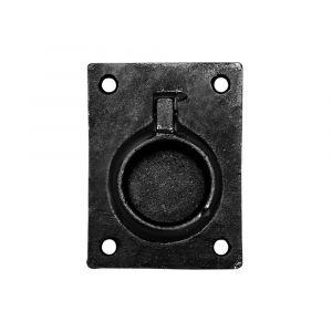 Kirkpatrick KP3062 luikring 89x64 mm smeedijzer zwart - A16006124 - afbeelding 1