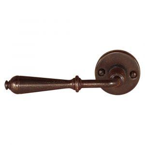 Utensil Legno FM311L M RSB deurkruk op rozet 50x50 mm met veer gatdeel links roest - A16001614 - afbeelding 1