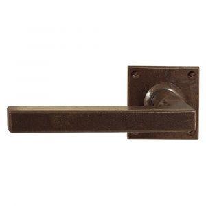 Utensil Legno FM364L M RSB deurkruk op rozet 50x50 mm met veer gepatenteerd systeem gatdeel links roest - A16001625 - afbeelding 1