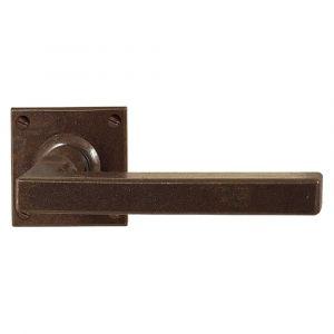 Utensil Legno FM364R M RSB deurkruk op rozet 50x50 mm met veer gepatenteerd systeem gatdeel rechts roest - A16001626 - afbeelding 1