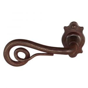 Utensil Legno FM371L M RSB deurkruk op rozet 65x40 mm met veer gepatenteerd systeem gatdeel links roest - A16001632 - afbeelding 1