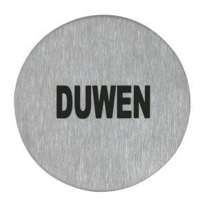 Artitec symboolplaat pictogram duwen diameter 75 mm RVS mat - A23001375 - afbeelding 1
