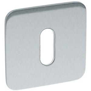 Artitec RVS Woning sleutelrozet paar vierkant 2 mm vlakrozet SF2 RVS glans - A23001186 - afbeelding 1