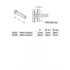 Artitec halve kruk wisselstift deurdikte 38-48 mm heso - A23000643 - afbeelding 1