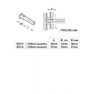 Artitec tuimel wisselstift deurdikte 49-59 mm heso gereduceerd - A23000646 - afbeelding 1