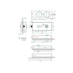 Artitec glasdeur slot Frankfurt RVS mat blind - Y32700009 - afbeelding 2