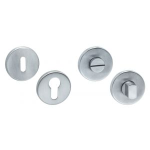 Artitec RVS Woning WC garnituur sluiting zonder nokken RVS mat WC 6-7 mm - A23001215 - afbeelding 1