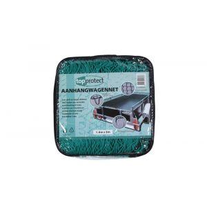 LoadLok aanhangwagennet met hoeklussen en elastiek groen 150x200 cm - Y50500165 - afbeelding 1