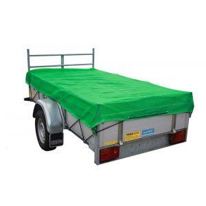 LoadLok aanhangwagen net fijnmazig met koord 140x250 cm groen - Y50500191 - afbeelding 1