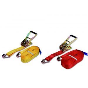LoadLok spanband Professioneel met ratel en haken 35 mm 9 m 1000/2000 daN oranje - A50500223 - afbeelding 1
