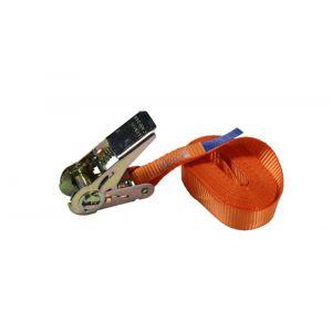 LoadLok spanband Professioneel met ratel 25 mm 6m 350/700 daN oranje - A50500315 - afbeelding 1