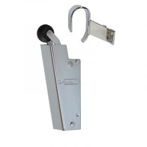 Dictator deuropvanger hydraulisch 1600 chroom haak 1013 50N cilinder regelbaar - Y10100091 - afbeelding 1