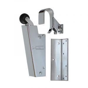 Dictator deuropvanger hydraulisch 1700 chroom haak 1009 20N cilinder regelbaar - Y10100135 - afbeelding 1