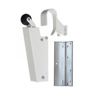Dictator deuropvanger hydraulisch 1700 wit RAL 9010 haak 1009 20 N cilinder regelbaar 1773130 - Y10100133 - afbeelding 1