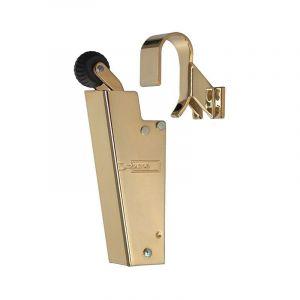 Dictator deuropvanger hydraulisch 1600 glans goud haak 1009 50N cilinder regelbaar - A14000086 - afbeelding 1
