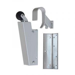 Dictator deuropvanger hydraulisch 1700 grijs RAL 9006 haak 1009 20N cilinder regelbaar 1773130 - Y10100148 - afbeelding 1