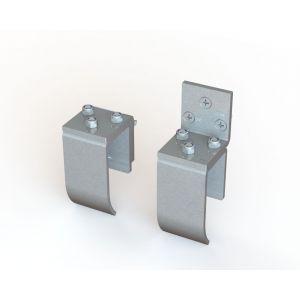Dictator montage hoekstuk voor haak 1014 RVS inclusief bevestigingstoebehoren montage 1400 bij gelijkliggende deur-kozijn - Y10100132 - afbeelding 1