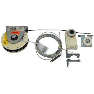 Dictator mechanische schuifdeursluiter Dictamat 50 BK 50N veerkabelrol met 2 m kabel modulair systeem - Y10100115 - afbeelding 1