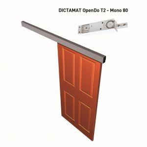 Dictator elektrisch schuifdeursluitsysteem Dictamat OpenDo T2 mono 80 compleet met muurbevestiging - A14000216 - afbeelding 1