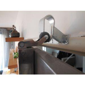 Dictator deuropvanger hydraulisch 1000 nikkel zonder haak 50N cilinder regelbaar - Y10100068 - afbeelding 2