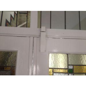 Dictator deuropvanger hydraulisch 1600 wit RAL 9010 haak 1009 50N cilinder regelbaar 1300466 - Y10100086 - afbeelding 2