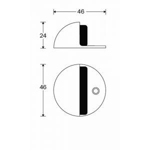 Wallebroek Mi Satori 00.4542.90 deurbuffer halfrond messing mat nikkel gelakt - A25002326 - afbeelding 1