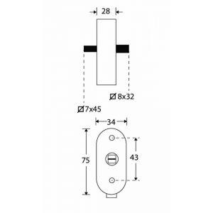 Wallebroek Mi Satori 00.5576.90 draaikiep mechanisme SKG Elegant afsluitbaar messing gepolijst gelakt - A25004964 - afbeelding 1