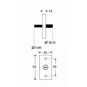 Wallebroek Mi Satori 00.5577.90 draaikiep mechanisme Bauhaus Style messing gepolijst ongelakt - A25004948 - afbeelding 1