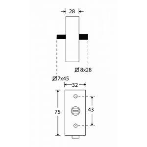 Wallebroek Mi Satori 00.5578.90 draaikiep mechanisme SKG rechthoek afsluitbaar messing gepolijst ongelakt - A25004940 - afbeelding 1