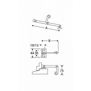 Wallebroek Mi Satori 00.5604.90 combi uitzetter Elegant 125 mm messing mat chroom - A25005467 - afbeelding 1
