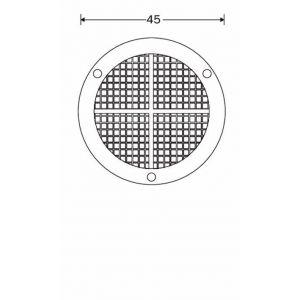 Wallebroek 70.7807.90 ventilatierozet 45 mm kunststof wit - A25006230 - afbeelding 2