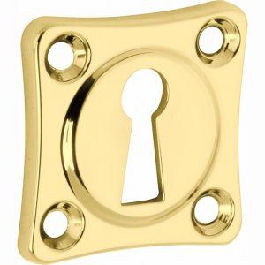 Wallebroek Mi Satori 00.2423.55 sleutelrozet Vierkant 38x38 mm messing gepolijst gelakt - A25003644 - afbeelding 1