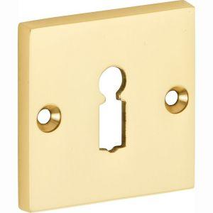 Wallebroek Mi Satori 00.2427.56 sleutelrozet Bauhaus Style BB messing gepolijst gelakt - A25003660 - afbeelding 1