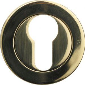 Wallebroek Cardea 50.2407.57 cilinderrozet Cardea messing gepolijst gelakt - A25003437 - afbeelding 1