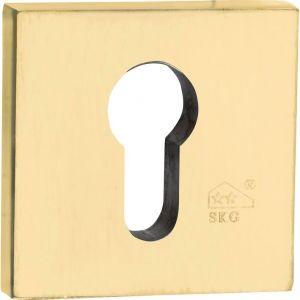 Wallebroek Mi Satori 00.2475.88 SKG cilinderrozet Bauhaus Style buitenzijde messing gepolijst PVD - A25004855 - afbeelding 1