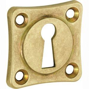 Wallebroek Mi Satori 00.2423.55 sleutelrozet Vierkant 38x38 mm messing getrommeld ongelakt - A25003646 - afbeelding 1