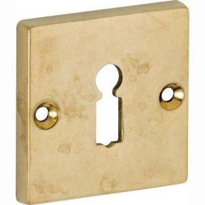 Wallebroek Mi Satori 00.2427.56 sleutelrozet Bauhaus Style BB messing getrommeld ongelakt - A25003662 - afbeelding 1