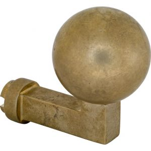 Wallebroek Mi Satori 00.2503.90 knop Bauhaus Kogel voor SKG schild messing getrommeld ongelakt - A25002346 - afbeelding 1